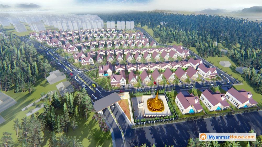 ဥေရာပဘန္ဂလိုပံုစံ Taunggyi Garden Estate (ဂရန္အမည္ေပါက္) လံုးခ်င္းအိမ္ရာ