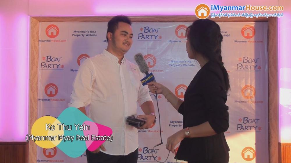 IT ပိုင်းဆိုင်ရာမြင့်လာတဲ့ အခါမှာ iMyanmarHouse ပေါ်လာတာ အရမ်းကျေးဇူးတင်ပါတယ် - မြန်မာ့မြေ အိမ်ခြံမြေ - Property Interview from iMyanmarHouse.com