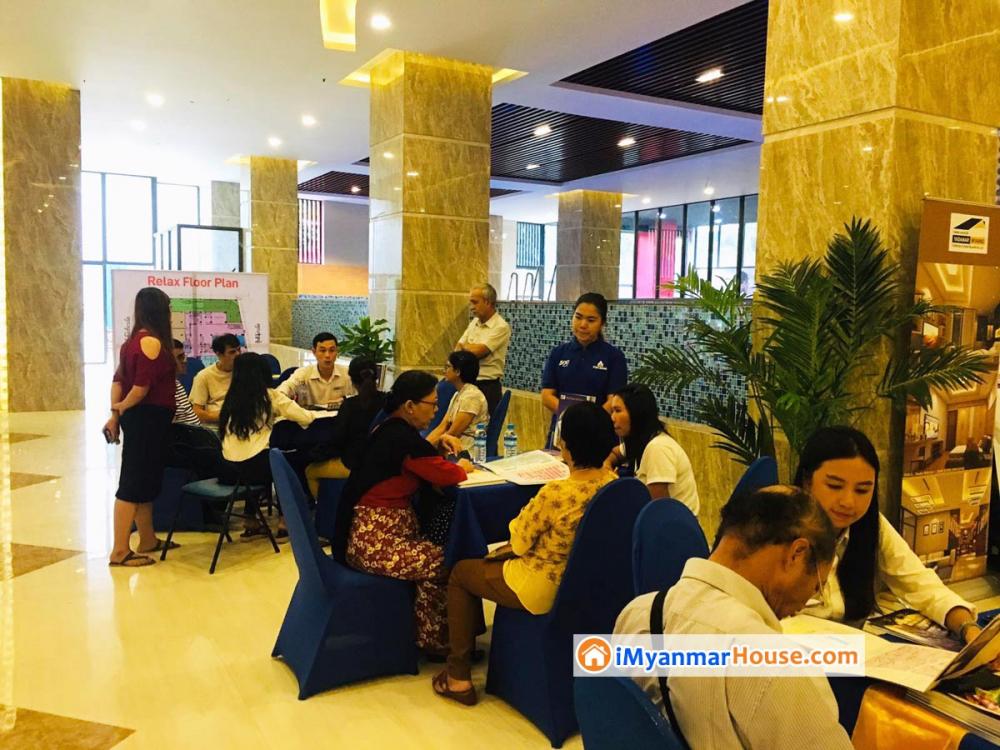 ကန္ေတာ္ၾကီးဥယ်ာဥ္အနီး Royal Garden View ကြန္ဒိုအေရာင္းျပပြဲ ေအာင္ျမင္စြာက်င္းပခဲ့ - Property News in Myanmar from iMyanmarHouse.com