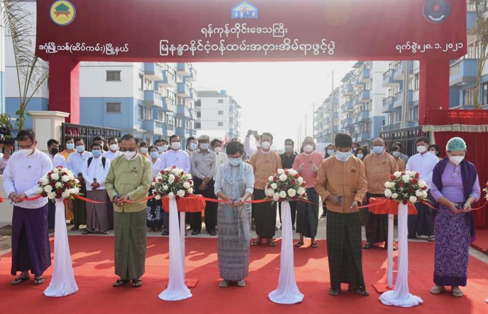 အခန်း စုစုပေါင်း (၄၇၆) ခန်းပါဝင်သည့် မြနန္ဒာ နိုင်ငံ့ဝန်ထမ်း အငှားအိမ်ရာဖွင့်လှစ် - Property News in Myanmar from iMyanmarHouse.com