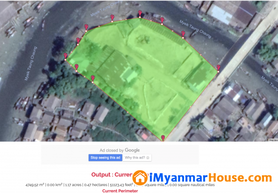 ၿမိတ္စက္မႈဇုန္အတြင္း အိမ္ႏွင့္ ေျမကြက္က်ယ္ (House and Land in Myeik (Mergui) Industrial Zone.