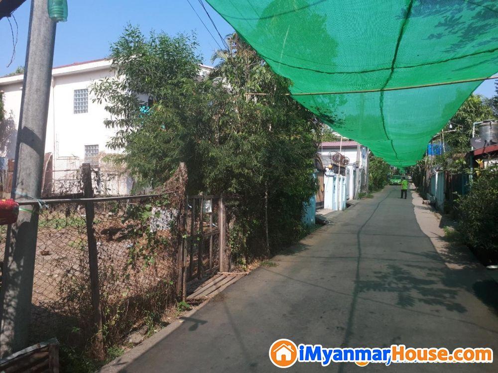 ခြံကွက်(40x80)အင်းစိန်လမ်းမကြီးနှင့်ဘူတာရုံလမ်းမကြီးကျောကပ်နေရာကောင်း (Covidဈေး) - ရောင်းရန် - အင်းစိန် (Insein) - ရန်ကုန်တိုင်းဒေသကြီး (Yangon Region) - 2,600 သိန်း (ကျပ်) - S-8772456 | iMyanmarHouse.com