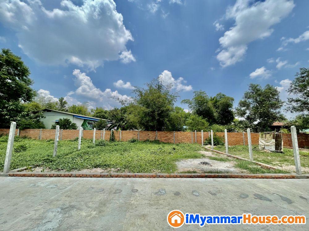 မင်္ဂလာဒုံမြို့နယ် သိန်း ( 150 ) တန်ဖိုးရှိ မြေကွက် ရောင်းမည် - ရောင်းရန် - မင်္ဂလာဒုံ (Mingaladon) - ရန်ကုန်တိုင်းဒေသကြီး (Yangon Region) - 150 သိန်း (ကျပ်) - S-9086992   iMyanmarHouse.com